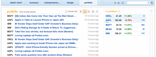 feeddo and Yahoo Finance