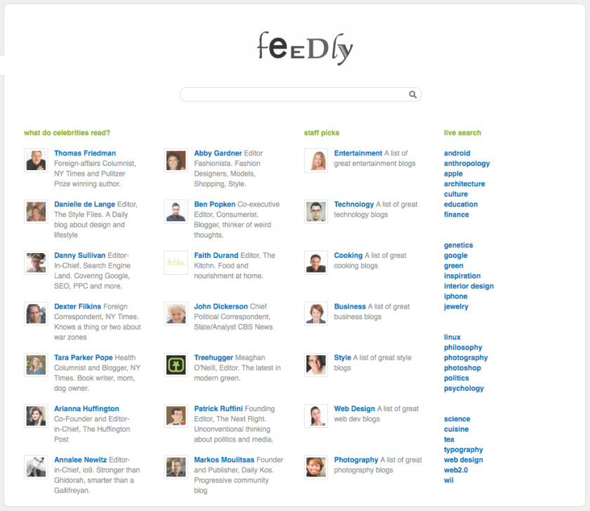 Feedly Explore