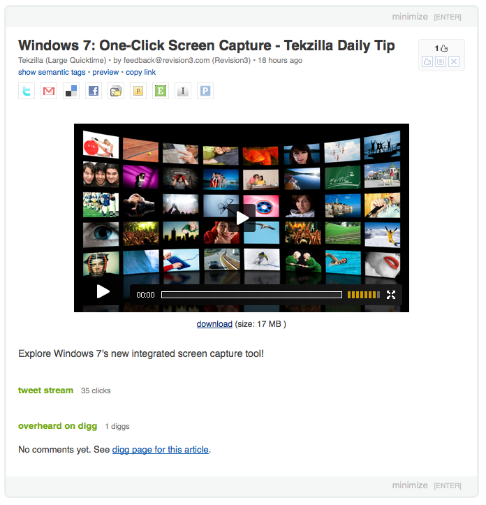 New Iteration of the Feedly Video Player
