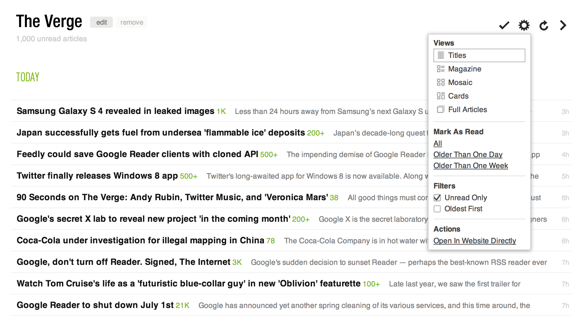 Tips for Google Reader users migrating to feedly