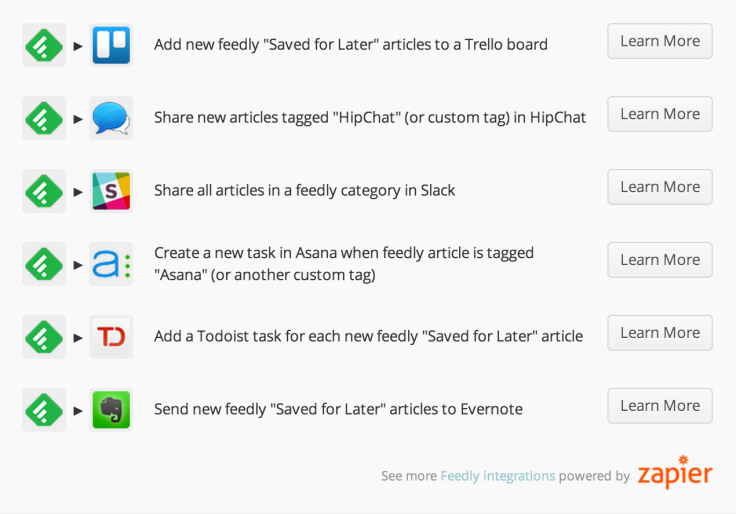 feedly+zapier